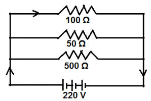 PARALLEL CONNECTION OF THREE LOADS