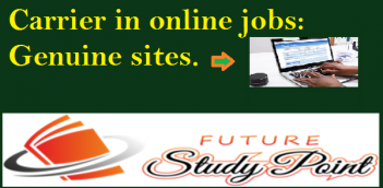Carrier in online jobs: Genuine sites which gives you money for your work.