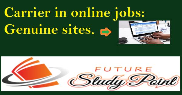 online jobs genuine sites