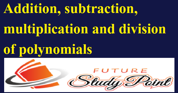 addition of polynomial