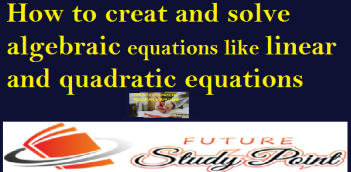 How to creat and solve algebraic equations like linear and quadratic equations