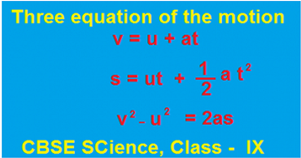 THREE EQUATIONS OF MOTIONS