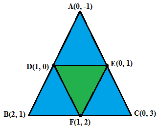 Area formed by the mid points of sides of triangle