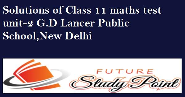 G D .LANCER Maths test