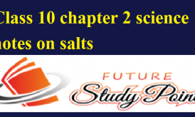 Class 10 chapter 2 science notes on salts