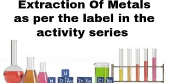 Extraction of metals as per the activity series