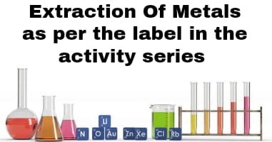 Extraction of metals as per the label in the activity series