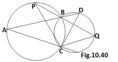 Q9, circle class 9 ex 10.5