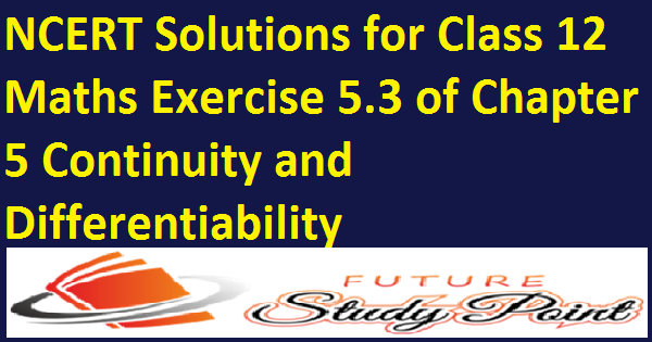 class 12 continuity & Differentiability ex.5.3