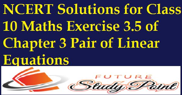 Exercise 3.5 class 10 maths